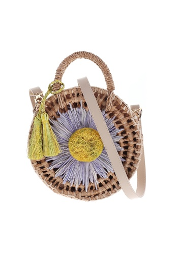 Style Cat brown and multi France Handmade Woven Daisy Sling 4991AACEC7152EGS_1