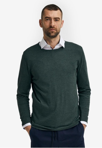 Selected Homme green Rome Long Sleeves Pullover 13FD1AA3882956GS_1