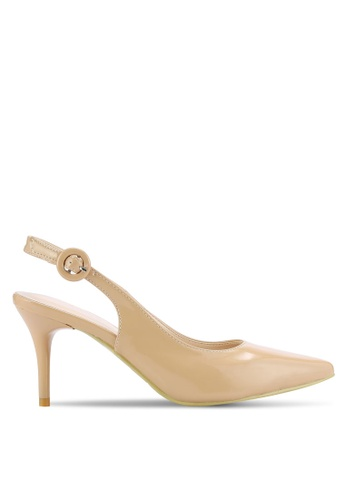 addicts anonymous beige Willa Slingback Sexy Heels AD479SH43HNOMY_1
