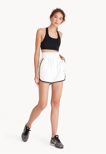 Pomelo white Cross Train High-Waisted Shorts - White CFF3FAA289B2E9GS_1