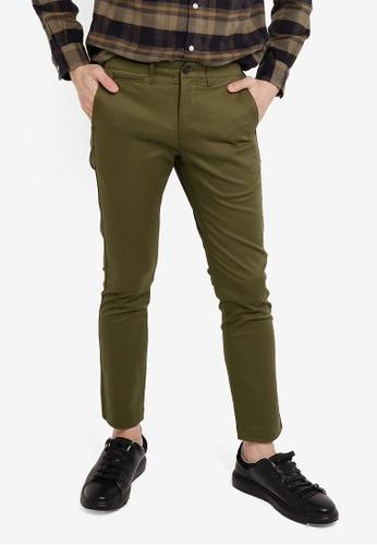 GLOBAL WORK green Woven Trousers 9B483AAE68CF45GS_1