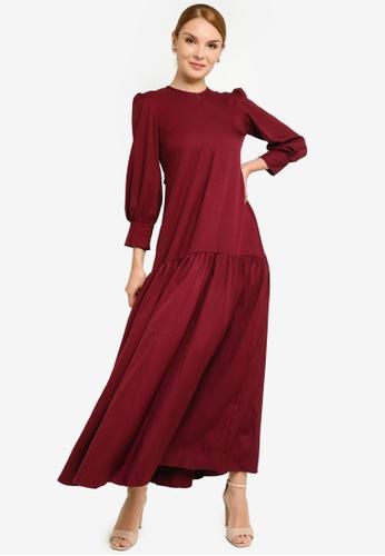 REALFANTASY purple Inaya Dress Magenta E6600AADDFBDBCGS_1