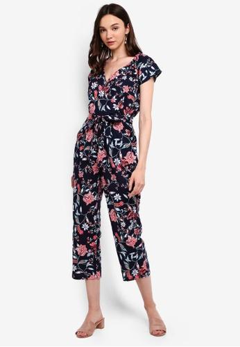 e48a1d39898f Buy Dorothy Perkins Navy Folk Floral Jumpsuit | ZALORA HK