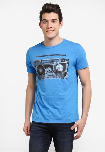 Boss Orange blue Turbulence 3 T-Shirt - Boss Casual BO434AA0RIDCMY_1
