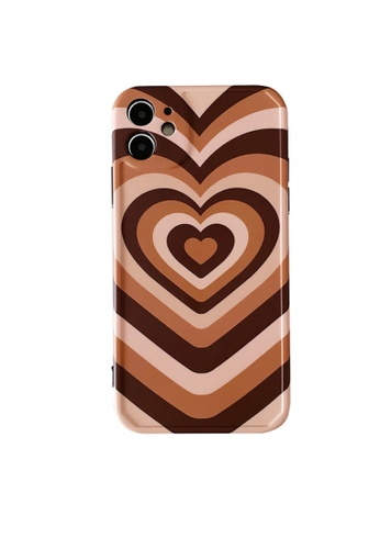 Kings Collection brown Capuchino Heart iPhone 12 Pro Case (KCMCL2217) 05254AC39F3587GS_1
