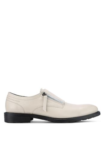 ZALORA white Contemporary Zipper Monk Shoes 2892CAAD4D47DAGS_1
