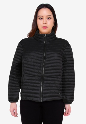 Junarose black Plus Size Trine Long Sleeve Jacket 11EF3AABD83DA5GS_1
