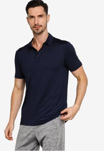 GAP navy V-Performance Polo Shirt 16669AAD5F2DDFGS_1