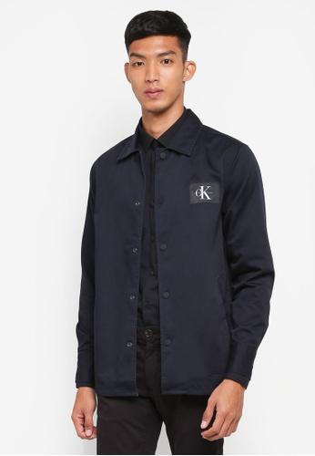 Calvin Klein navy Wearal REGF Long Sleeve Shirt Jacket FA605AA066758CGS_1