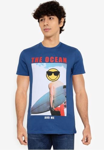 Springfield blue Smiley T-Shirt 51DCEAAA15C84FGS_1