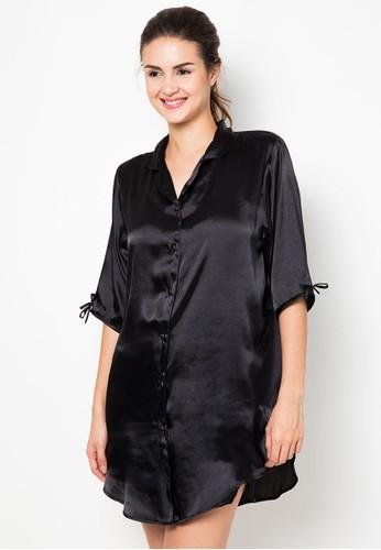 Impression black Nightdress Calista IM886AA90FBLID_1
