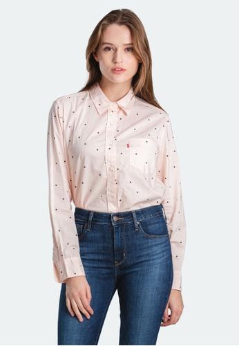 Levi's pink Levi's Ultimate Boyfriend Shirt Women 58937-0071 845BAAAD669DC3GS_1