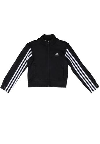 ADIDAS black snap bomber jacket 13076KA025A5BAGS_1