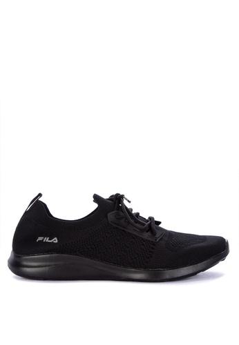 Fila black Decent Running Shoes 7B75ESHF1B90EDGS_1