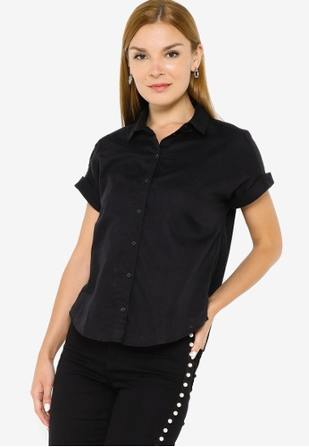 Banana Republic black Button Up Double Gauze Shirt AEEEFAAB35CA3BGS_1