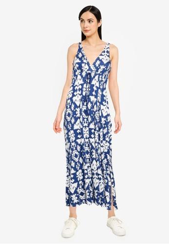 Springfield blue Ethnic Print Midi Dress A10CCAA3565852GS_1