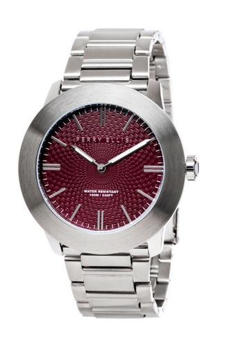 Perry Ellis silver Perry Ellis Slim Line Men 46mm Quartz Stainless Steel Watch 03004-02 E15B3ACC46FB7DGS_1