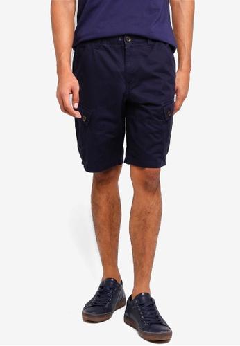 Burton Menswear London 海軍藍色 休閒短褲 D6423AA5B70707GS_1