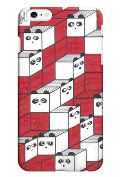 Panda Blocks Matte Hard Case for iPhone 6 Plus