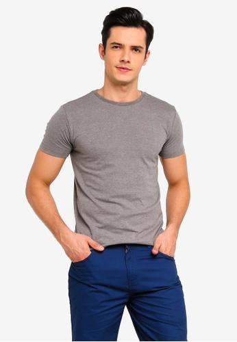 Penshoppe 綠色 混色品牌T恤 C3C53AA1F1BE79GS_1