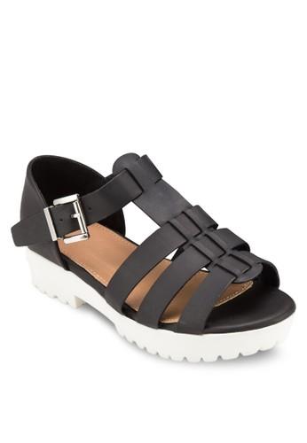 Gilmore 羅馬厚底低跟涼鞋, 女鞋,esprit outlet 台灣 鞋