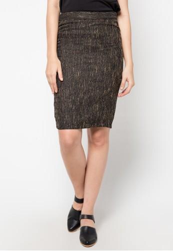 EPRISE black Skirt Span Jaguard EP457AA23PUAID_1