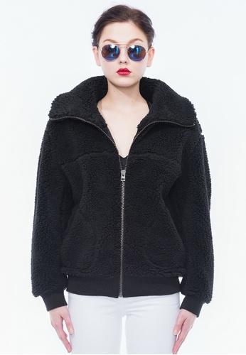Alpha Style black Ewan Sherpa Jacket AL461AA0GTW0SG_1