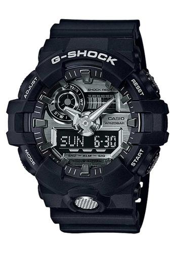 CASIO black Casio G-Shock Silver and Black Resin Watch A7D5FAC214494FGS_1