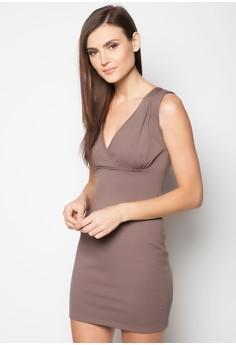 Annette V-Neck Bodycon Dress