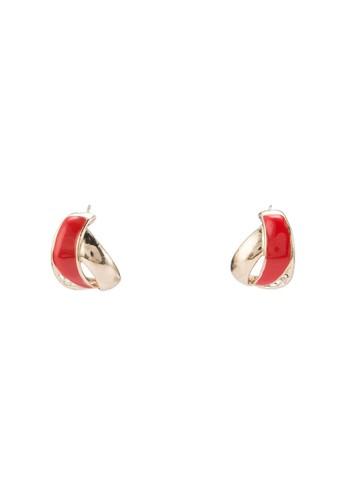 雙色波浪造型耳飾, 飾品配件, esprit手錶專櫃耳釘