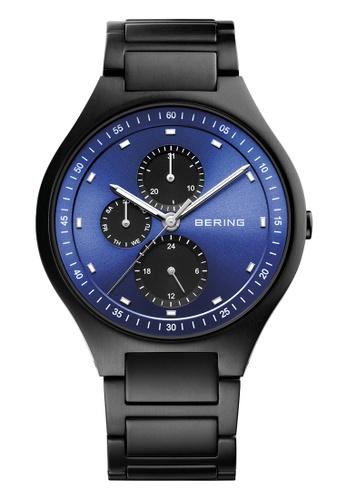 Bering black Titanium 11741-727 Blue 41 mm Men's Watch C809BAC14EA2D5GS_1