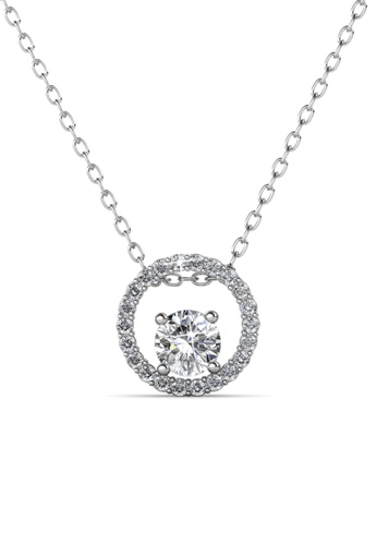 Her Jewellery silver Desiree Pendant -  Made with premium grade crystals from Austria HE210AC0GP0RSG_1