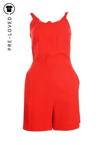 Roland Mouret red Pre-Loved roland mouret Red Short Jumpsuit CC049AA957D381GS_1