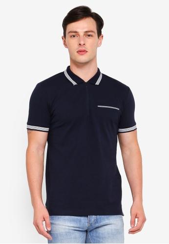 ESPRIT 海軍藍色 短袖POLO衫 95D9BAAF988C3CGS_1