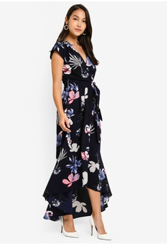 a90ed5601e9f 20% OFF AX Paris Floral Maxi Wrap Dress RM 259.00 NOW RM 206.90 Sizes 8 10  12 14