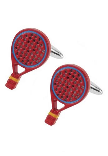 CUFF IT red Red Enamel Tennis Racquets Cufflinks CU047AC73BRUHK_1