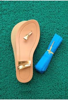 Caca Design-It-Yourself Flats - Light Blue Ribbon