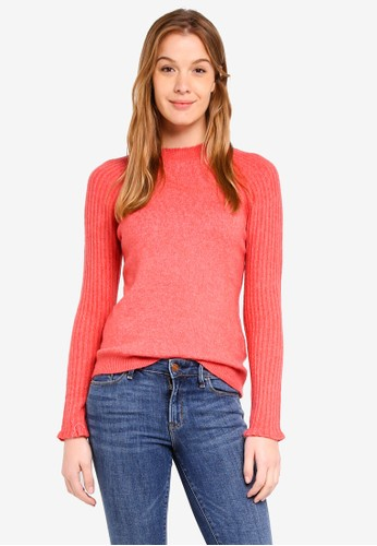 Abercrombie & Fitch red Button Mockneck Turtle Pullover A3FE7AA61BB3D0GS_1