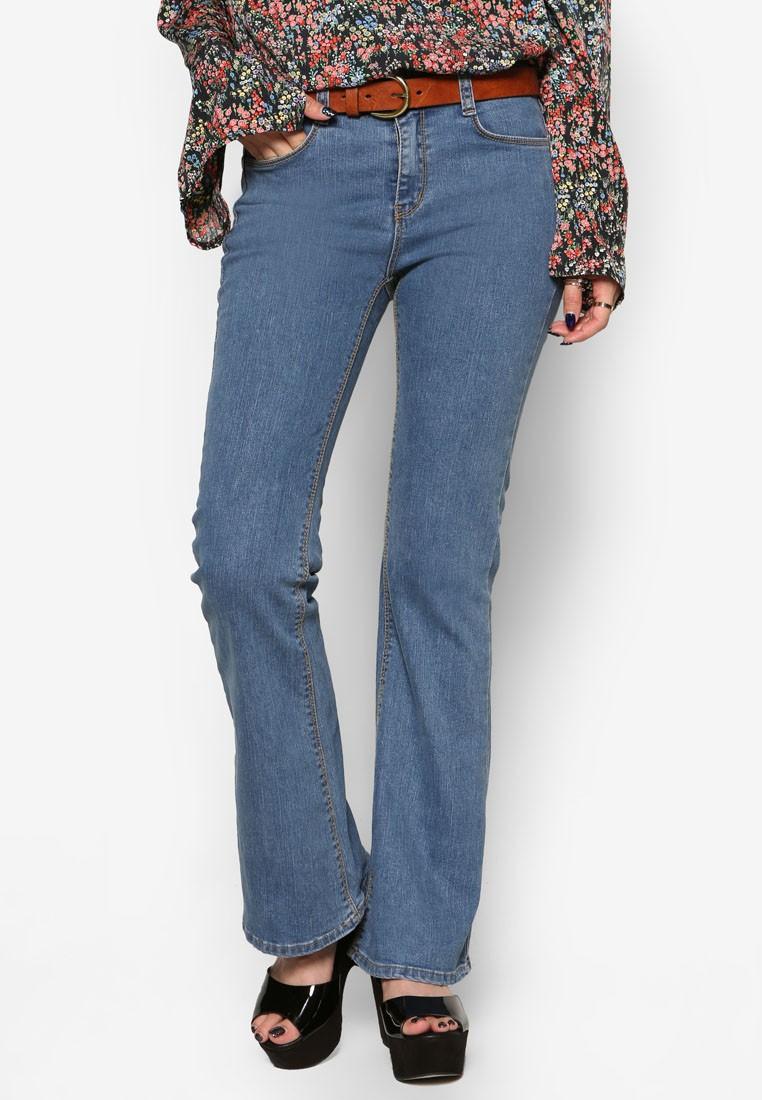 Korean Style Straight Bootcut Jeans