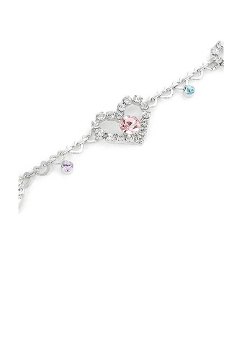 Glamorousky silver Great Affection Bracelet with Silver and Multi Color Austrian Element Crystals 2FDDCACCB4FD6EGS_1