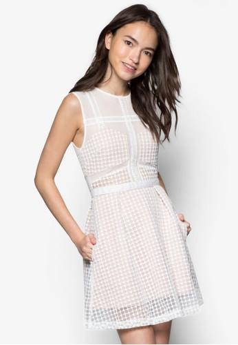 Marcia zalora 衣服尺寸無袖連身裙, 服飾, 正式洋裝