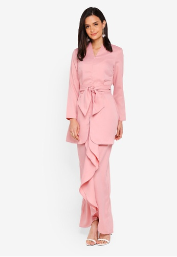 Lubna pink Fitted Sleeve Kebaya 005ECAA48912C8GS_1