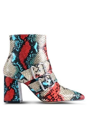 Miss Selfridge 灰色 Anna 多色Colour Buckle 靴子 9E475SHC1D787CGS_1