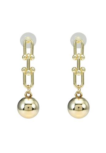 Red's Revenge gold Wrecking Ball Chainlink Dangle Earrings E6474ACD7AD9DEGS_1