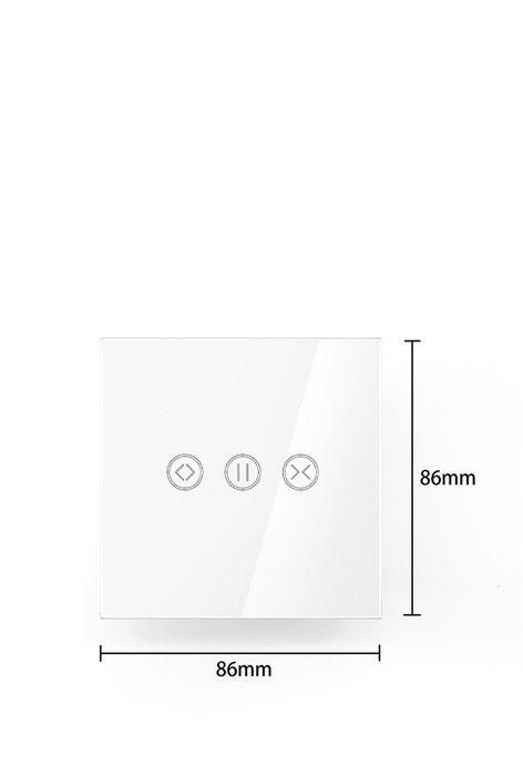 UKGPro 白色WiFi無線一體化輕觸式智能窗簾開關,室內改裝安裝電燈窗簾抽氣扇場景燈制手機APP UKG Smart Life語音操控安卓iOS零火供電(U-DS151-WH)