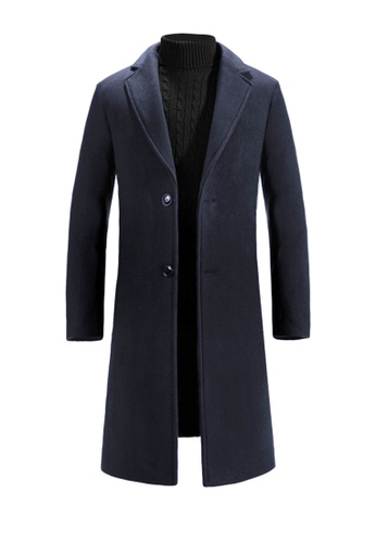 Twenty Eight Shoes navy VANSA Fashion Thick Cashmere Coat VCM-C8711 D93C9AA99E2DB3GS_1