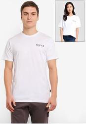 Nicce London white Chest Logo T-Shirt NI146AA0SBK0MY_1