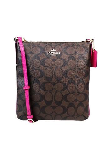 Coach brown Coach Signature  Crossbody Bag (F35940) - IM/Brown/Pink Ruby 81122ACB8DC9B5GS_1