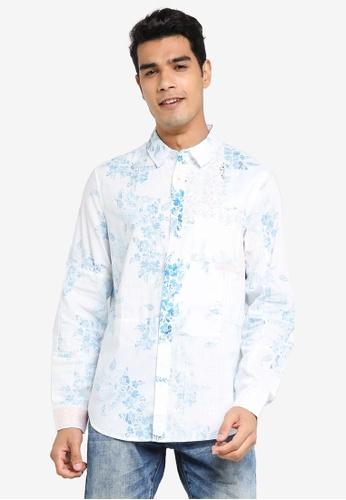 Desigual white Paisley Printed Shirt 87AB8AAE6889FBGS_1