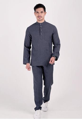 VELRIA black BENTARA Baju Melayu Cekak Musang A1698AACD995A4GS_1
